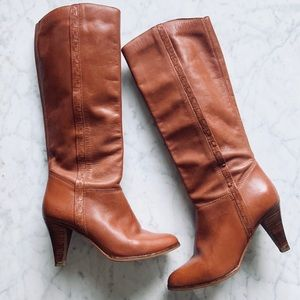Vintage 70s Nordstrom Knee High Heeled Boots